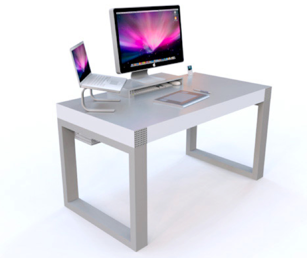 Schreibtisch design apple  Mac Computer Desk Apple Computer Table Amazing 3 Imac Desks Imac ...